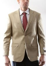 Prontomoda Italia, Men's Two Button Silk Wool Tan Sport Coat, #J74012S-74066