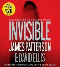 INVISIBLE BY JAMES PATTERSON AND DAVID ELLIS - UNABRIDGED BOOK ON CD - 2014
