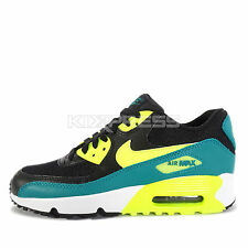 Nike Air Max 90 Mesh GS [833418-004] NSW Running Black/Volt-Rio Teal-White