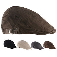 Mens Women Cotton Ivy Cap Newsboy Beret Cabbie Gatsby Flat Golf Duckbill Hat