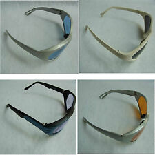Grey White Blue Black Plastic Frame Blue Yellow Purple Dark Lens Sunglasses