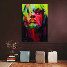 Modern Abstract Handpainted Oil Painting On Canvas color girl 60x90cm