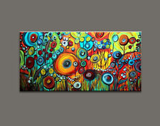 Large Modern Abstract Hand-Painted Art Wall Oil Painting on Canvas 60x120cm