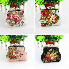 Womens Girls Wallet Change Coin Purse Hasp Clutch Holder Floral Handbag Bags NEW