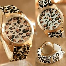 2016 Fashion Women Watch Leopard Band Round Dial Quartz Analog Wrist watch NEW