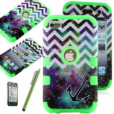 For iPod Touch itouch 4th Gen -HARD & SOFT RUBBER Skin CASE HYBRID COVER SHELL