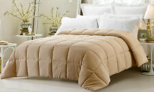 New Khaki 3pc Comforter Set Reversible Solid / Emboss Striped