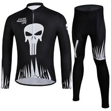Long Sleeve Men's Cycling Kit Mountain Bike Jerseys and Pants Suit Gel Pad S-5XL