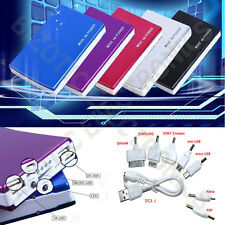 Dual USB Portable Slim Power Bank - Cell Phone 10000mAh Battery Charger IPhone