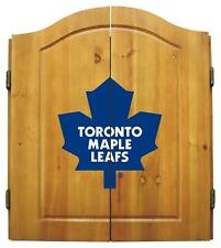 Toronto Maple Leafs Dart Board Cabinet & Bristle Dartboard Set