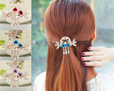 Women Jewelry Tops Hot Hairpin Crystal Rhinestone NEW Clip Flower Hair Barrette
