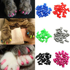 20Pcs Soft Rubber Pet Dog Cat Kitten Paw Claw Control Nail Caps Cover 8 Colors