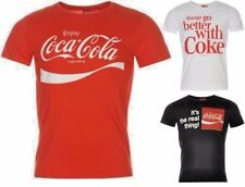 Coca Cola T Shirt Mens Large Print Crew Neck Top Short Sleeves All Sizes S-XXL