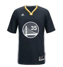 2016 New Golden State Warriors Kevin Durant 35 Black Jersey  Size S - XXL