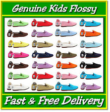 Flossys Flossy Plimsoll Shoes All Colours Children Kids Junior Size 8–3 Plimsole
