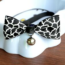 Lovely  Adjustable Puppy Kitten Dog Cat Pet Bow Tie With Bell Necktie Collar 1Pc
