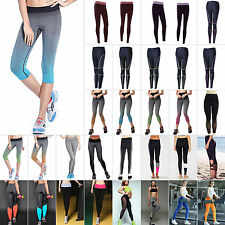 Women High Waist Leggings yoga Sport Running Pants Fitness Gym Elastic Leggings