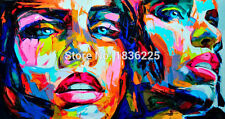 Modern Abstract Nielly Francoise Hand-painted Art Oil Painting on Canvas Decor