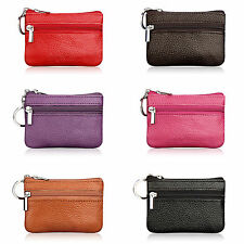 Simple Women's Leather Coin Purse Card Change Pocket Wallets Key Holder Handbags