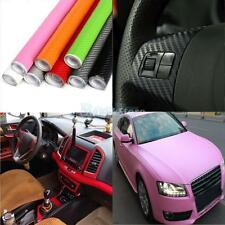 200x30cm 3D Carbon Fiber Vinyl Wrap Roll Film Sticker Car Decal Decor Sheet