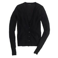 NWT J.CREW Collection Featherweight Cashmere Waffle Cardigan Sweater sz L Black