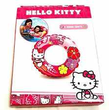 HELLO KITTY SWIM RING INFLATABLE SWIMMING CHILDREN GIRLS BLOW UP POOL PINK FLOAT
