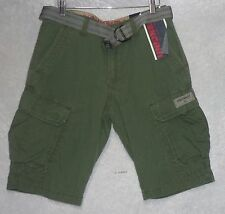 Unionbay Mens Cargo Shorts Ripstop belted cotton flat front size 30 NEW