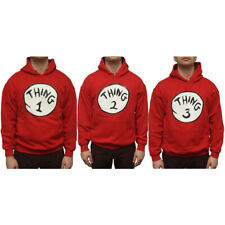 Thing Hoodies (Choose Number) 1 2 3 Adult Cat In The Hat Costume Dr Seuss New