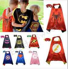 Kids Super Hero Costume Cape & Mask Batman Children Superhero Outfit
