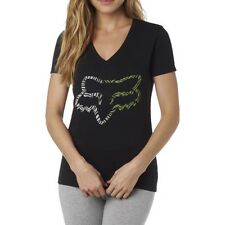 Fox Racing Phoenix V Neck Womens T-shirt - Black All Sizes