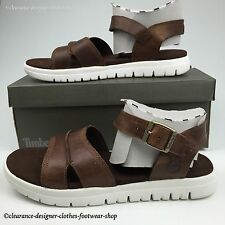 TIMBERLAND PIERMONT SANDALS MENS BACKSTRAP OPEN TOE BROWN PREMIUM LEATHER RP£75