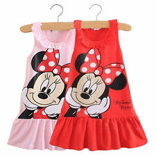 Lovely Kids Baby Girls Minnie Mouse Party Dress Skirt Toddler Clothing 1-5Years