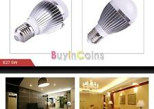 Ultra Bright E27 Globe Ball 5W 85-265V Led Light Bulb Lamp Pure Warm White