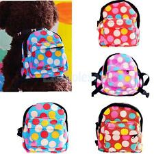 Pet Outdoor Travel Carrier Dog Cat Puppy Dots Backpack Bag with Harness S M L