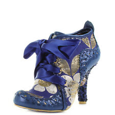 Womens Irregular Choice Abigails Third Party Blue Gold Ankle Boots Size