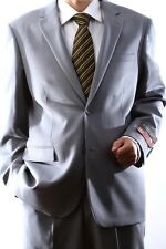 MENS 2 BUTTON SUPER 120S WOOL LIGHT GRAY SUIT FLAT FRONT, 40312N-40362-LGR