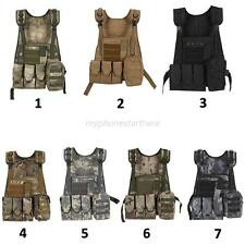 Military Airsoft Molle Tactical Vest Combat Assault Plate Carrier Swat