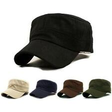 Fashion Hats Classic Vintage Army Military Cadet Style Cotton Cap Hat Adjustable