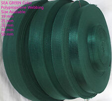 Sea Green 19 25 32 38 50mm POLYPROPYLENE WEBBING STRAPPING,BAGS,STRAP,WEAVE