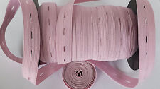 """19mm 3/4"""" BABY PINK Button hole Buttonhole Elastic Woven Waistband Notion sewing"""