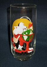 NORMAN ROCKWELL CHRISTMAS GLASS - COCA COLA PROMOTIONAL GLASS