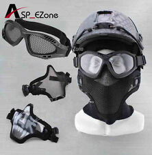 Airsoft Top Quality Tactical Military Metal Mesh Goggles Shooting Glasses &Mask
