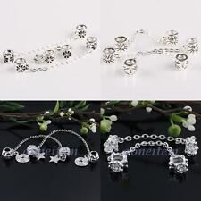 FLOWER SUN RAY STARS SAFETY CHAIN STOPPERS END BEADS FINDINGS FIT CHARM BRACELET