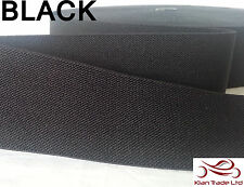 "50mm(2"") BLACK Color TWILL ELASTIC WAISTBAND TAPE craft sewing dress Belt strap"