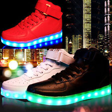 New Kids Girls Children LED Shoes Flashing Light Up Sneakers Trainers AUS Shoe #