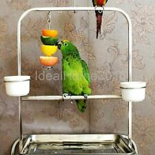 12/20cm Food Vegetable Skewer Cage Holder Toy Treat Fruit Stick Pet Bird Parrot