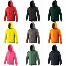 Awdis Plain Mens Hooded Sweatshirt Hoodie Zoodie 18 Colours Szs S-2XL