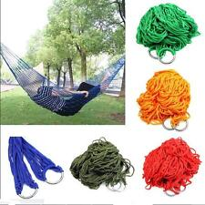 Hammock Hanging  Outdoor Mesh Sleeping Bed Nylon Swing Portable Travel Camping