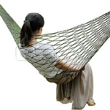 Nylon Hammock Hanging  Swing Travel Camping Sleeping Bed Outdoor Mesh Portable