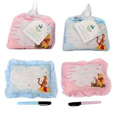 5-Pack Winnie The Pooh Birth Announcement Door Pillow With Pen Pink Blue Baby